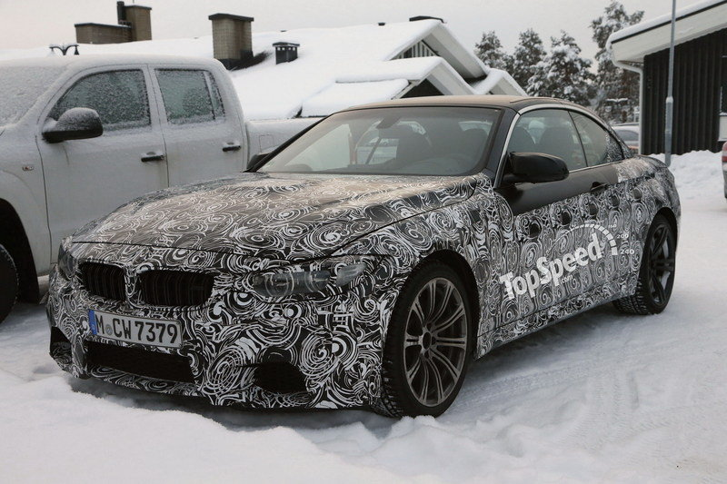 Spy Shots: BMW M4 Convertible Testing in Snowy Sweden