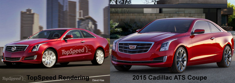 2015 Cadillac ATS Coupe Exterior Computer Renderings and Photoshop - image 538354