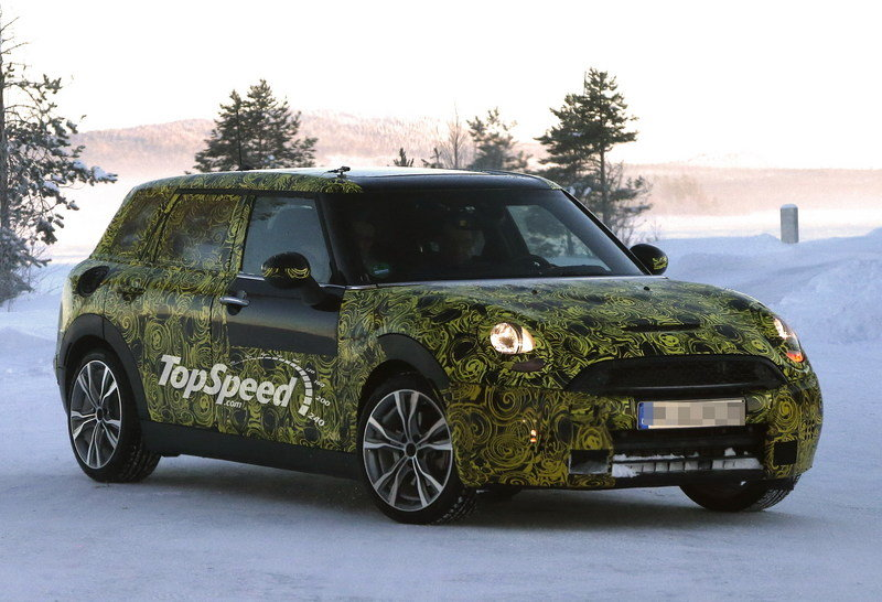Spy Shots: 2015 Mini Clubman Testing in the Cold of Sweden
