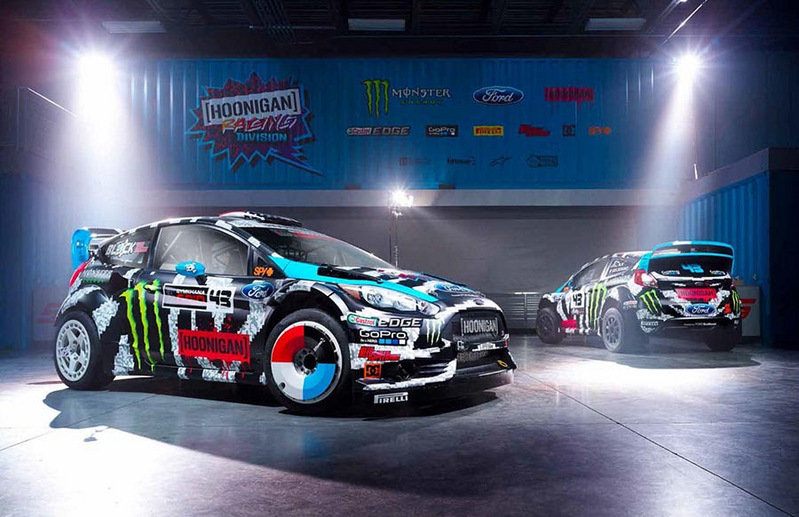 Ken Block's Hoonigan Racing Division Ford Fiesta Shows Off Its 2014 Livery