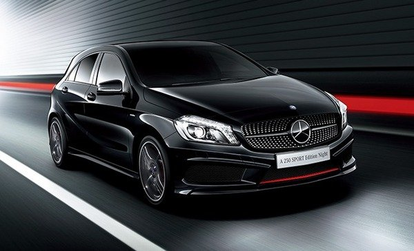 2014 mercedes benz a 250 sport edition night review top speed. Black Bedroom Furniture Sets. Home Design Ideas