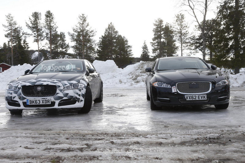 Spy Shots: 2015 Jaguar XJ Caught Next to the Current Model Exterior Spyshots - image 546168