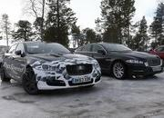Spy Shots: 2015 Jaguar XJ Caught Next to the Current Model - image 546169