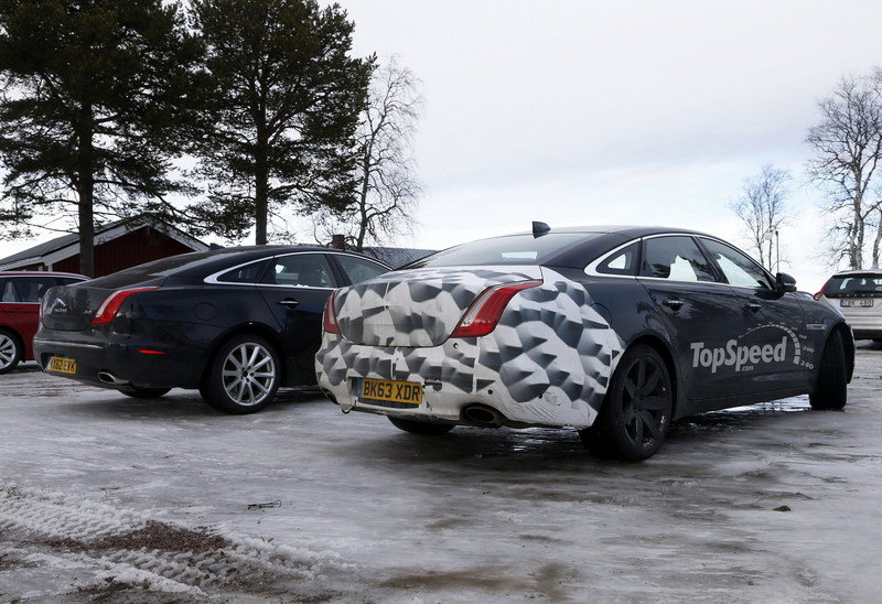 Spy Shots: 2015 Jaguar XJ Caught Next to the Current Model Exterior Spyshots - image 546170