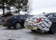 Spy Shots: 2015 Jaguar XJ Caught Next to the Current Model - image 546171