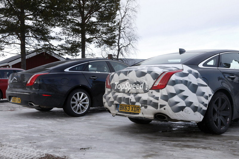 Spy Shots: 2015 Jaguar XJ Caught Next to the Current Model Exterior Spyshots - image 546171