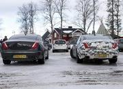 Spy Shots: 2015 Jaguar XJ Caught Next to the Current Model - image 546172