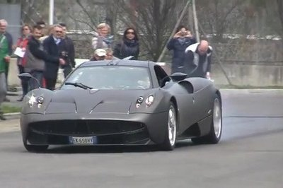 Video: Pagani Test Driver Takes His Son for a Wild Ride