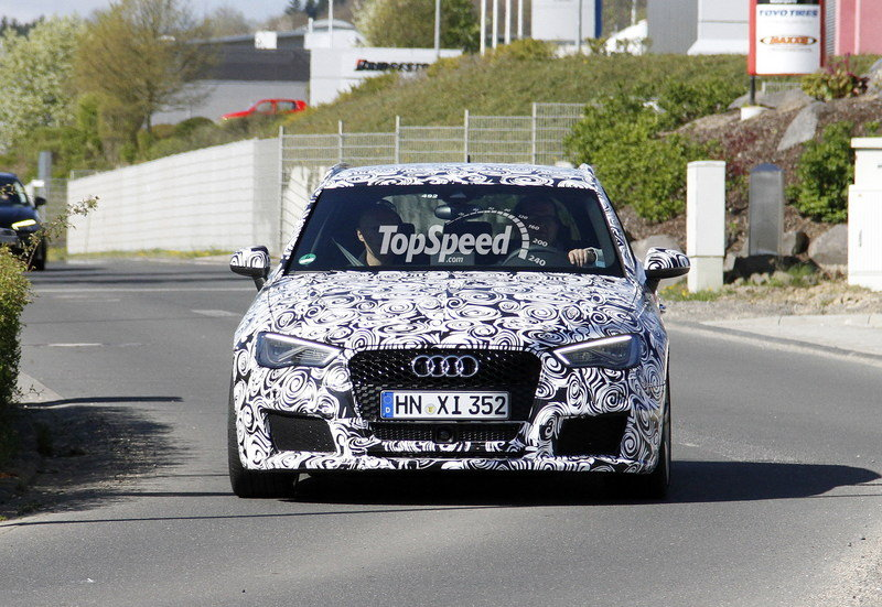Spy Shots: Production Version of the 2015 Audi RS3 Caught Testing