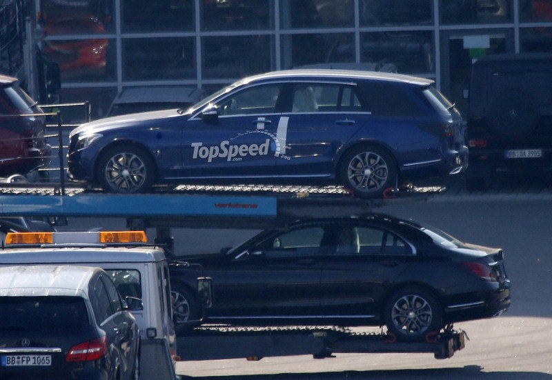 Spy Shots: 2015 Mercedes C-Class Wagon Poses for the Camera Again Exterior Spyshots - image 550693