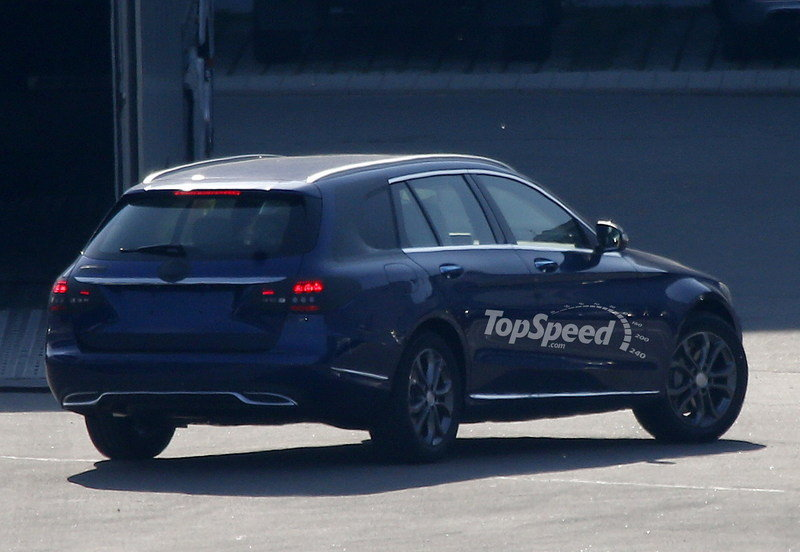 Spy Shots: 2015 Mercedes C-Class Wagon Poses for the Camera Again Exterior Spyshots - image 550696
