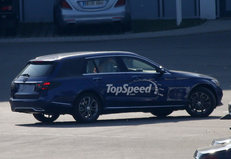 Spy Shots: 2015 Mercedes C-Class Wagon Poses for the Camera Again