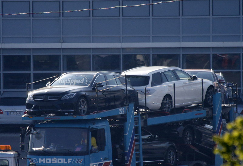 Spy Shots: 2015 Mercedes C-Class Wagon Poses for the Camera Again Exterior Spyshots - image 550690