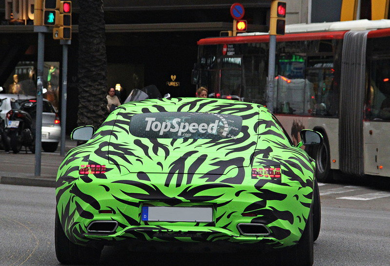 Spy Shots: Mercedes AMG GT Looks Crazy In Green