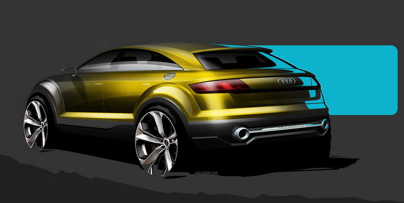 The Audi Q4 Will Supposedly Stand Out from the Lineup, But We Have Our Doubts Exterior Drawings - image 548056