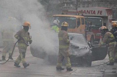 A Ferrari FF Bursts into Flames in Hong Kong