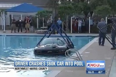 Video: Texas Driver Crashes $60K Camaro ZL1 Into Community Pool