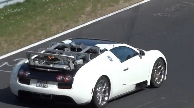 Video: Strange Bugatti Veyron Caught Testing at Nurburgring