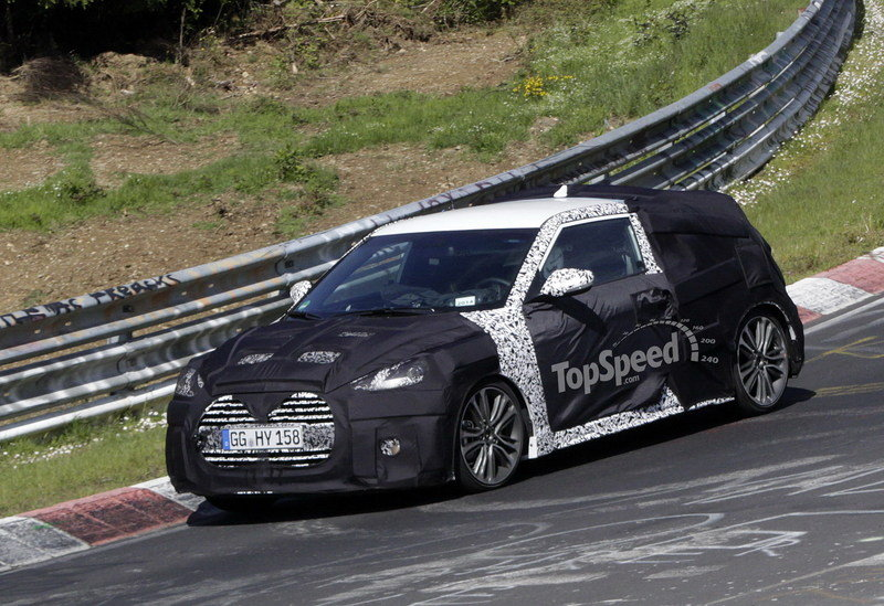 Spy Shots: 2015 Hyundai Veloster Turbo Takes its First Test on the Nurburgring Exterior Spyshots - image 552243