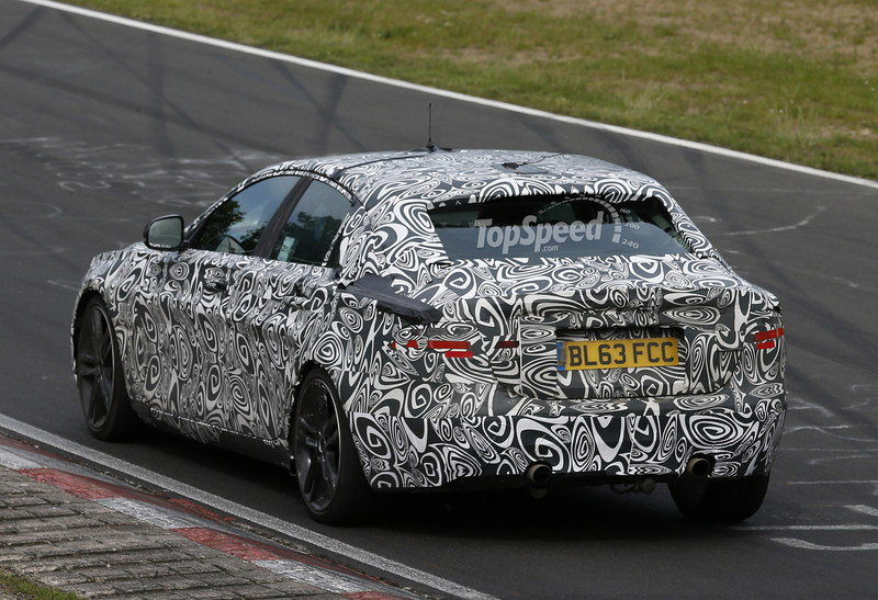 Spy Shots: 2016 Jaguar XE Caught Testing on the Nurburgring