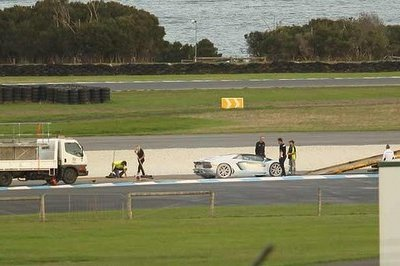 Lamborghini Aventador Roadster Catches Fire During Test Drives At Phillip Island
