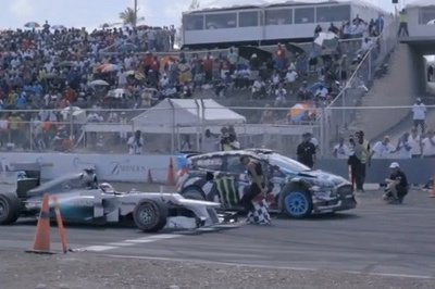 Video: Ken Block Vs Lewis Hamilton