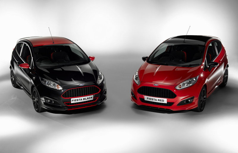 2014 Ford Fiesta Black and Red Edition