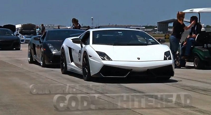 Video: 1,800-HP Lamborghini Gallardo Hits 224 MPH in 1/2 Mile