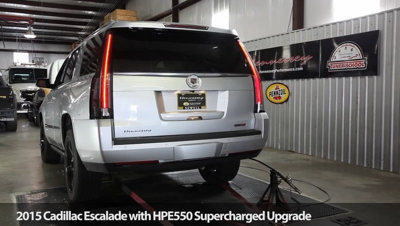 Video: 2015 Cadillac Escalade HPE550 by Hennessey Dyno Test