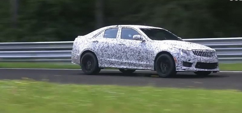 Video: Cadillac ATS-V Caught Testing and Getting Some Air on the Nurburgring