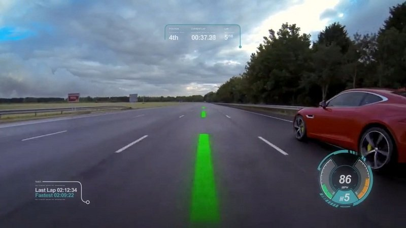 Jaguar Reveals its New Virtual Windscreen Concept