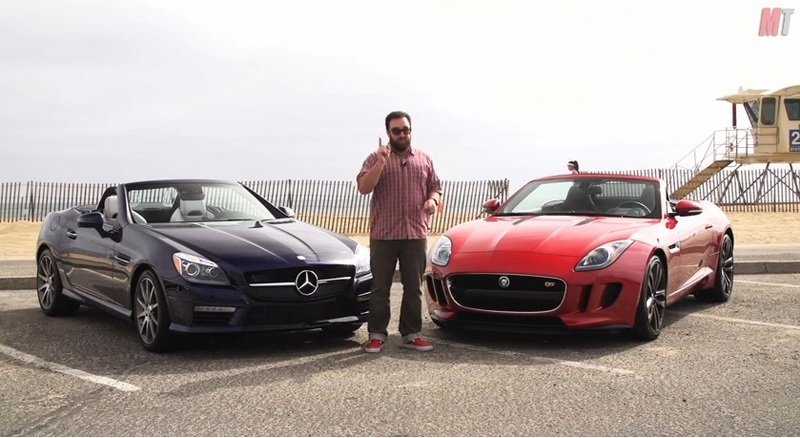 Video: MotorTrend Puts Jaguar F-Type V-6 S and Mercedes SLK55 AMG Head to Head