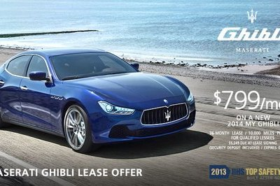 Lease a 2014 Maserati Ghibli for $799 Per Month