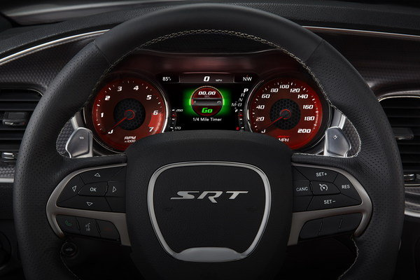 The Charger's newly redesigned interior becomes sportier now that
