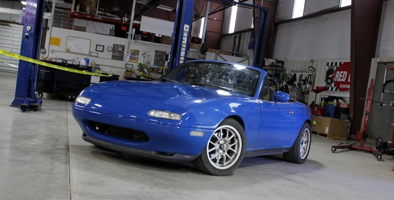 "1990 Mazda MX-5 Miata ""Turbo Smurf"" by Flyin' Miata - Driven"