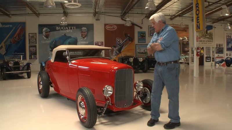 Video: Jay Leno Takes a 1932 Ford Highboy Roadster for a Spin