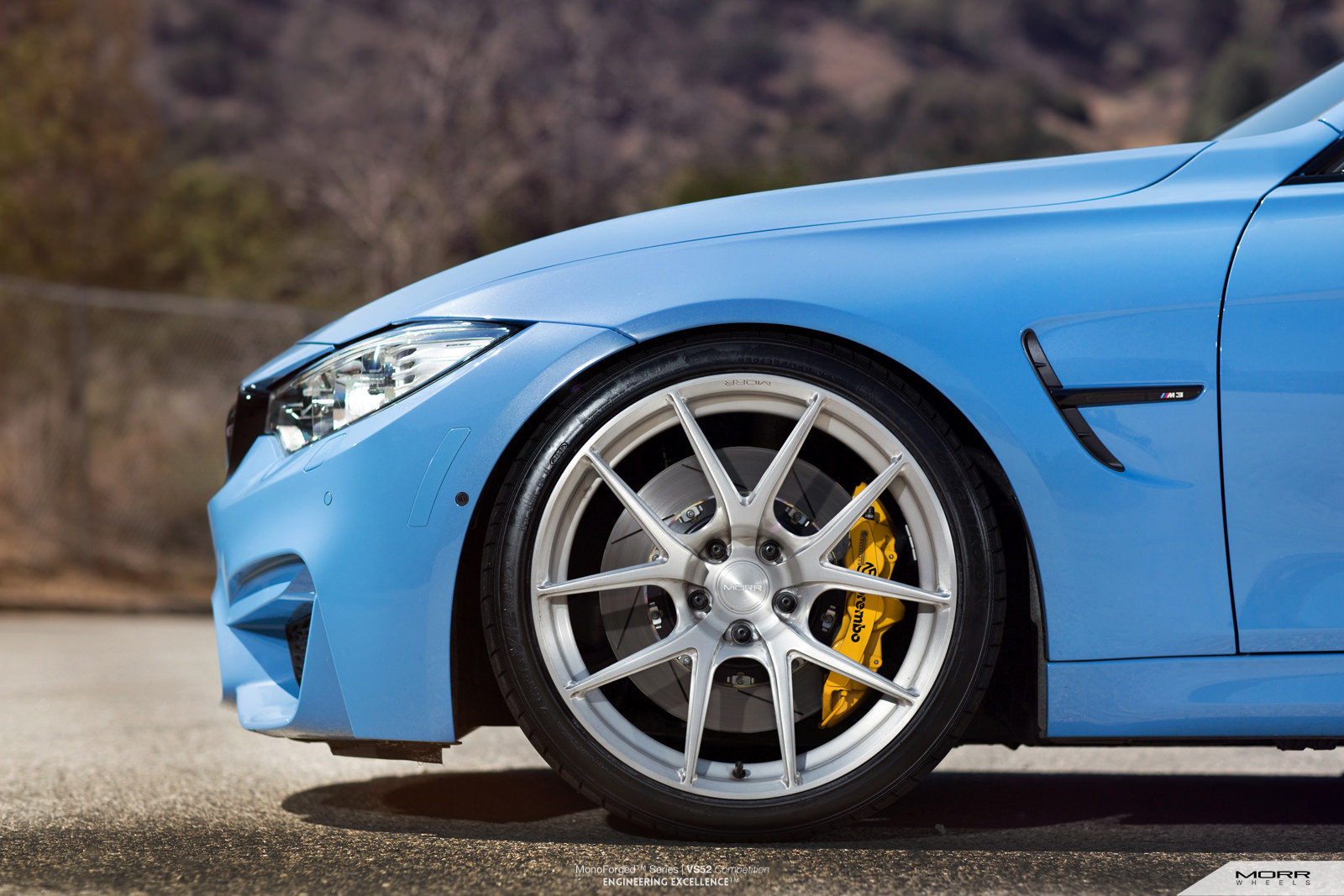 2015 BMW M3 Yas Marina Blue By MORR Wheels Pictures ...