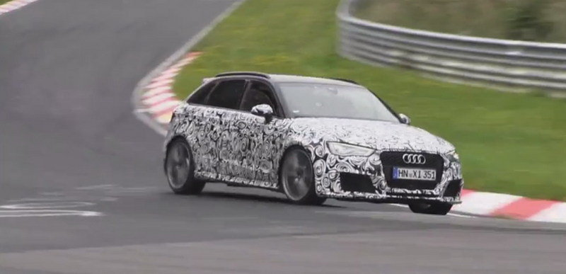 Video: 2015 Audi RS3 Sportback Laps Nurburgring