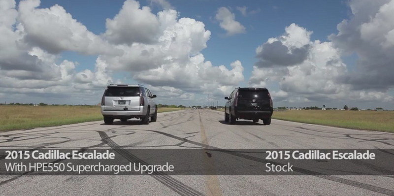 Video: Cadillac Escalade HPE550 Vs. Stock Version