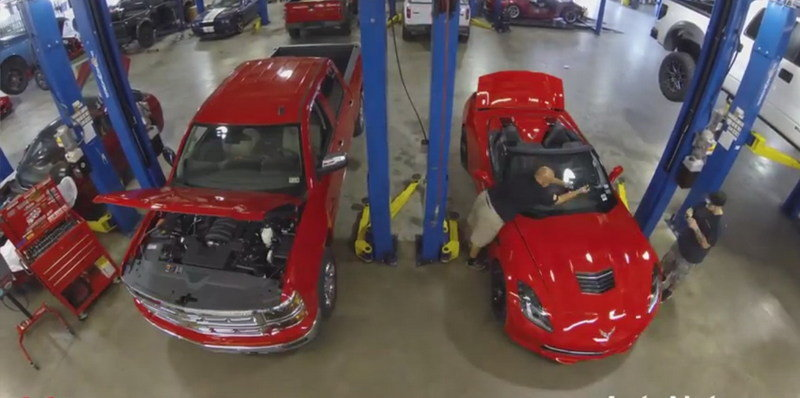 Video: Time-Lapse Video of Hennessey Supercharging a Stingray and Silverado