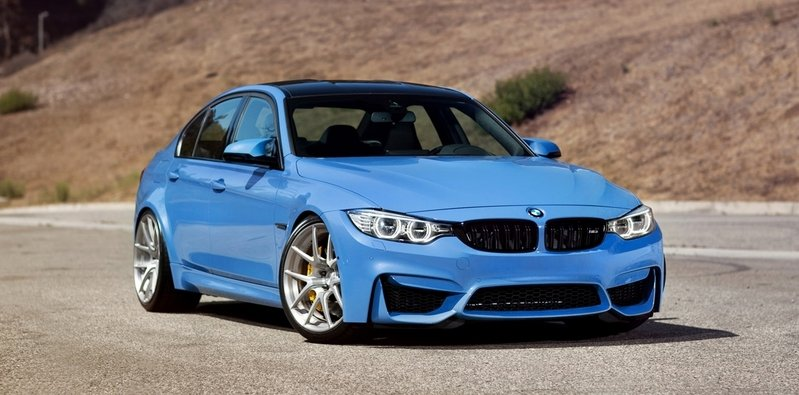 2015 BMW M3 Yas Marina Blue by MORR Wheels