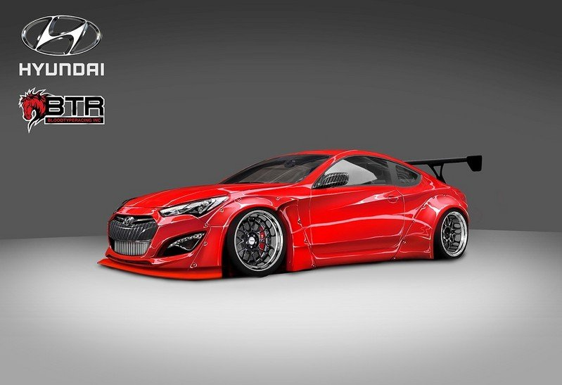 2015 Hyundai Genesis Coupe By Blood Type Racing High Resolution Exterior - image 571979