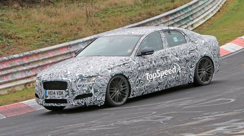 Spy Shots: 2016 Jaguar XF Hits The Nurburgring