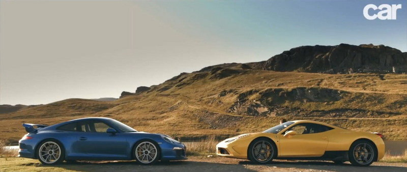 Video: Ferrari 458 Speciale Vs. Porsche 911 GT3