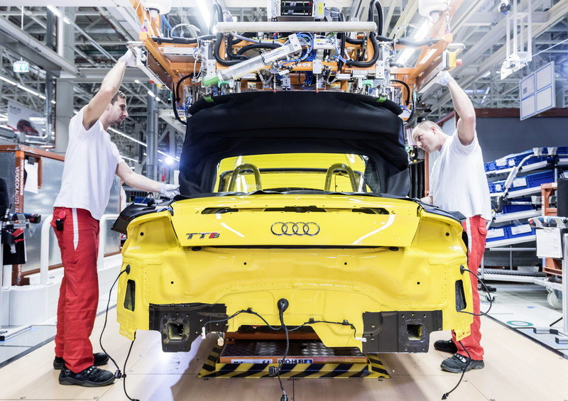 The New TT Roadster Enters Production in Audi's Hungary Plant