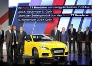 The New TT Roadster Enters Production in Audi's Hungary Plant - image 576489