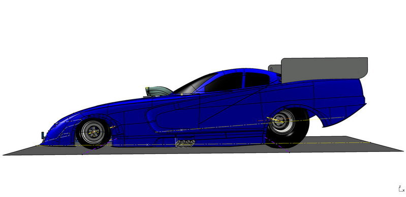 2015 Dodge Charger R/T NHRA Funny Car Drawings - image 576337