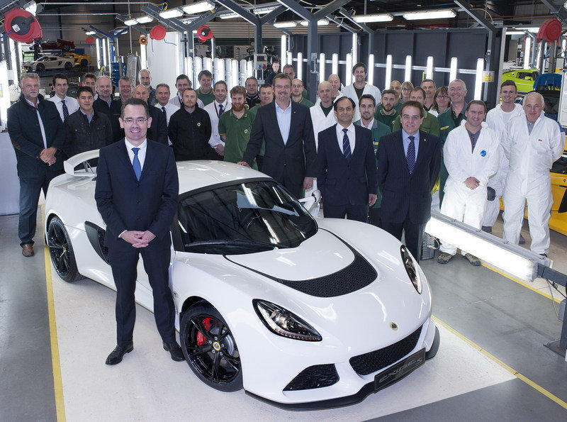The 1,000th Exige S Rolls off the Production Line