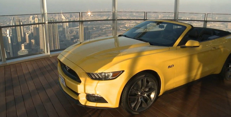 Video: 2015 Ford Mustang Atop The World's Tallest Building