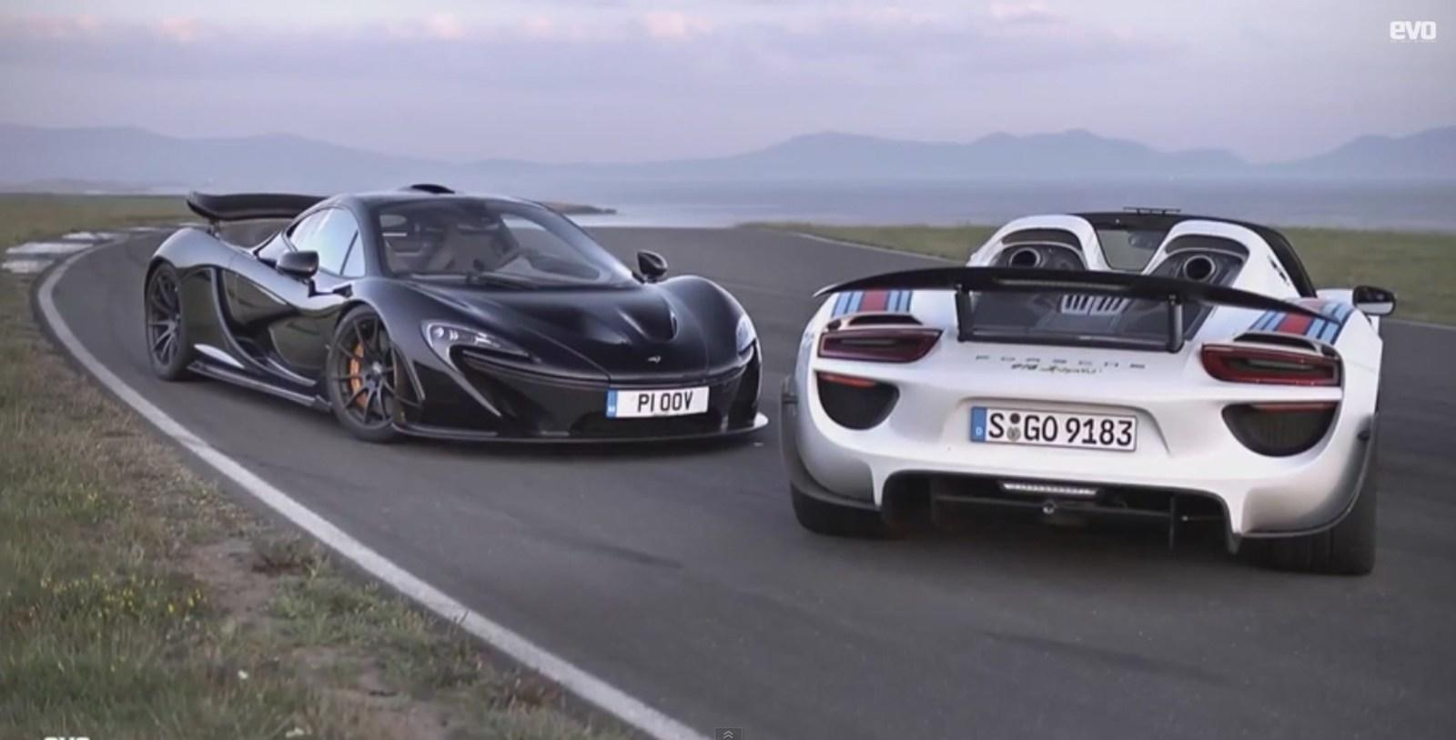 video mclaren p1 vs porsche 918 spyder news top speed. Black Bedroom Furniture Sets. Home Design Ideas